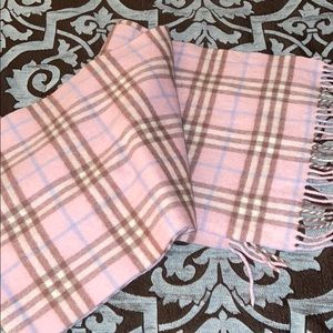 Burberry pink plaid scarf